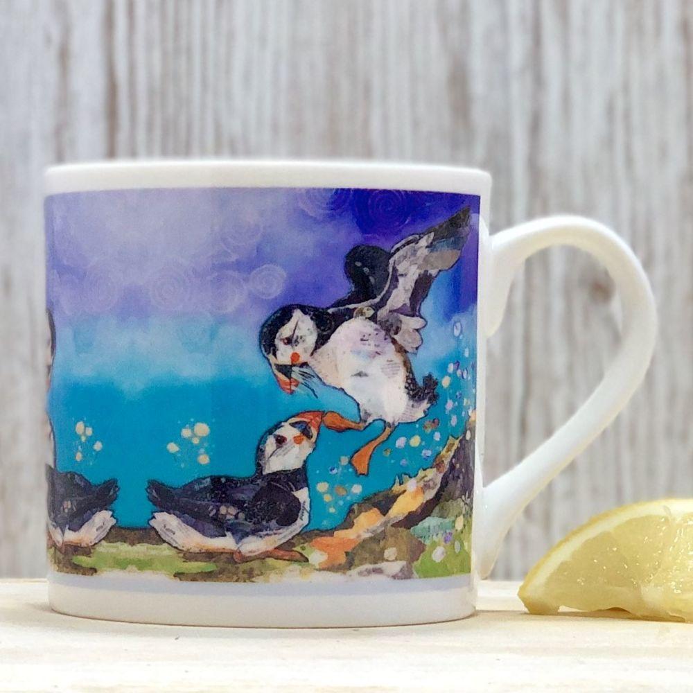 Two Puffin Friends Mug - Fine Bone China