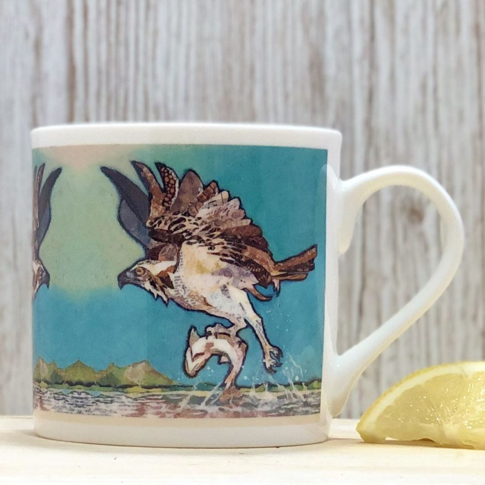 Flying Osprey Fine Bone China Mug