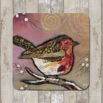Robin on Blush Tablemat (SECONDS)