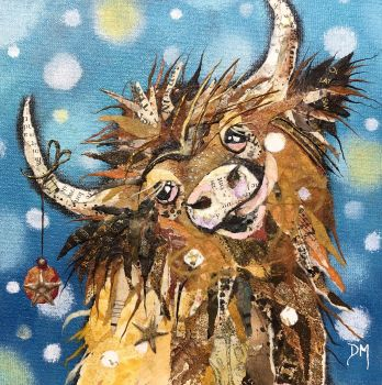 Puff Coo - Highland Cow - Unframed Original