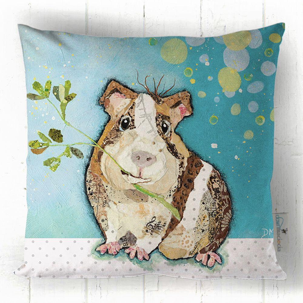 Guinea Pig Eating Printed Art Cushion