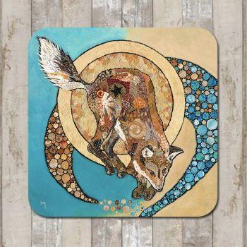 Fox & Golden Moon Tablemat (SECONDS)