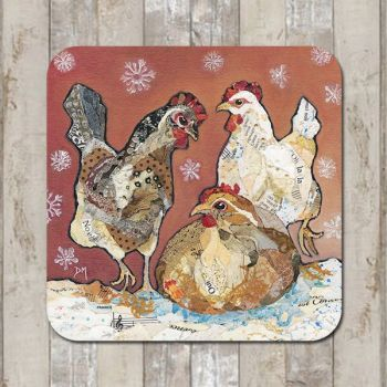 Three Hens Tablemat (SECONDS)