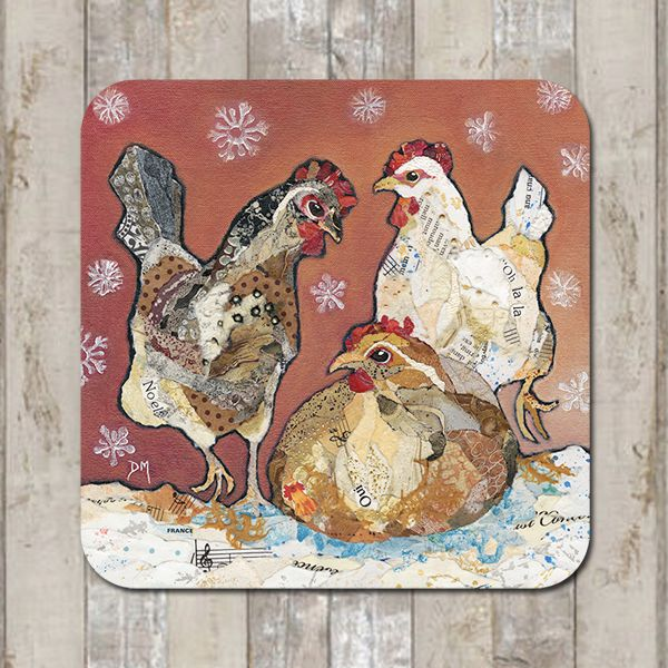 <!-- 002 -->  Three Hens Tablemat (SECONDS)