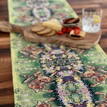 Honesty Hare Table Runner