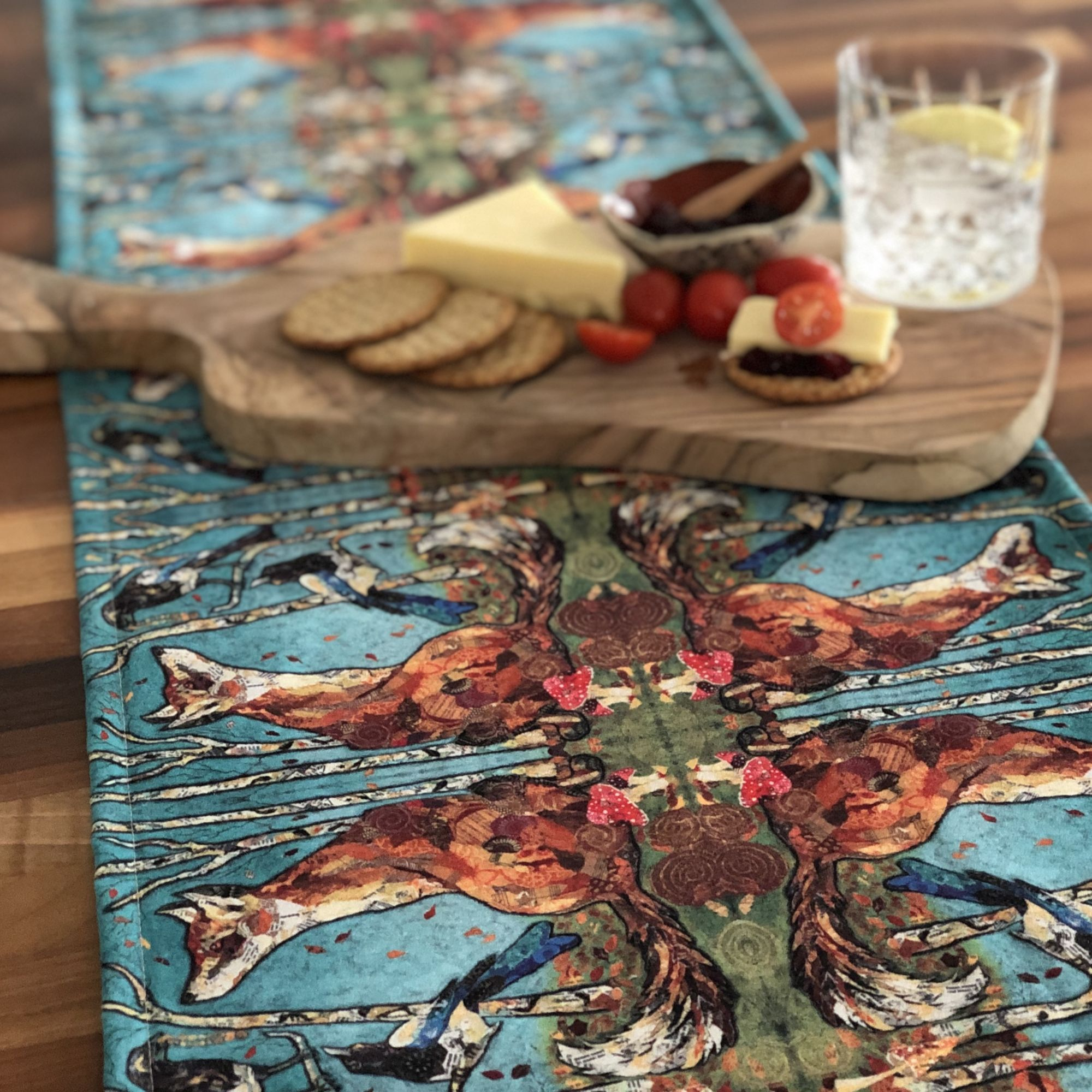 Handmade Fox Table Runner by Dawn Maciocia