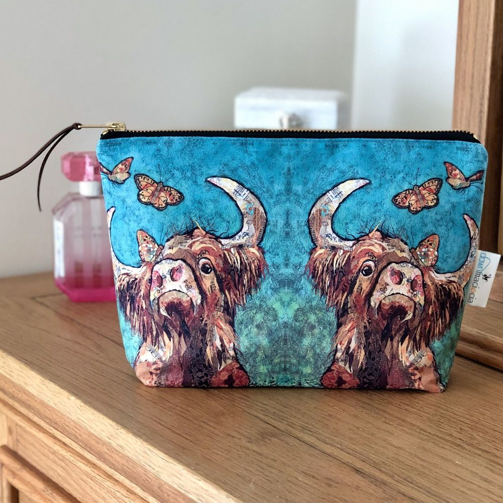Highland Cow Make-up Cosmetic  Bag