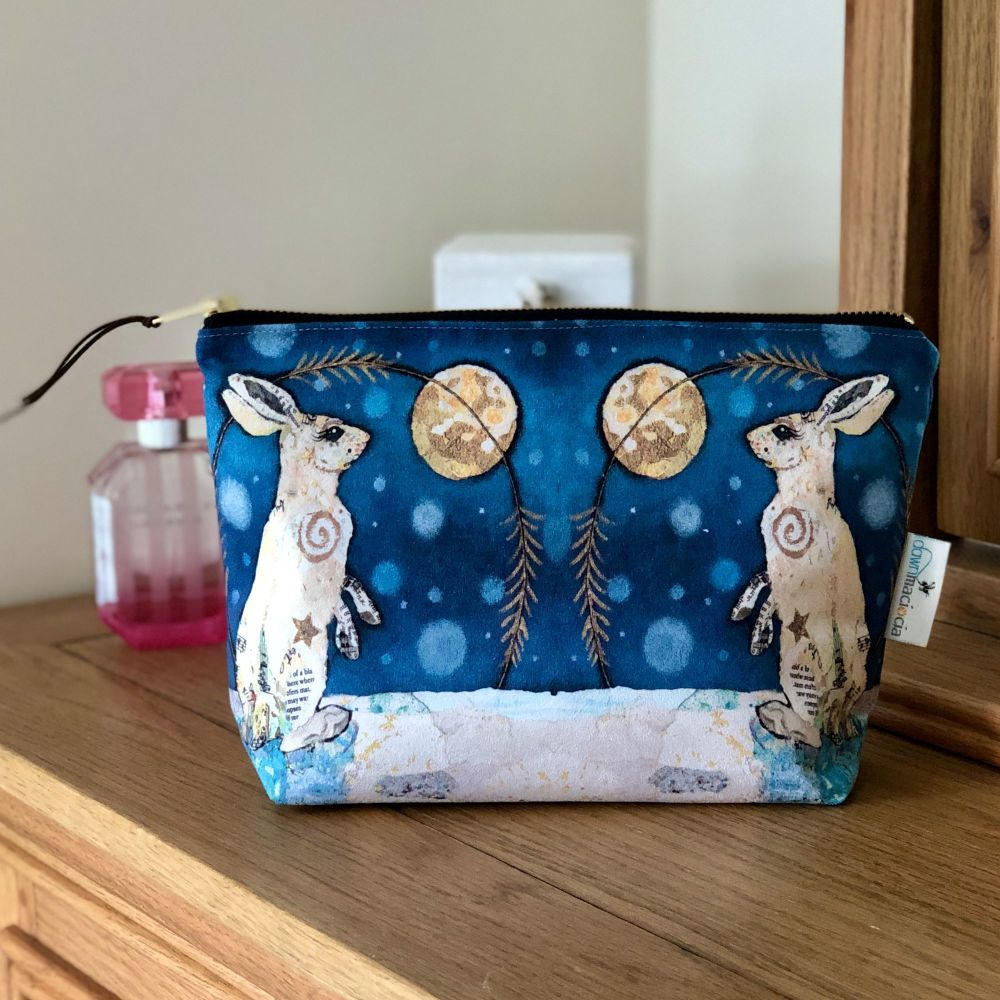 Luna Hare in Moon Make-up Cosmetic Bag