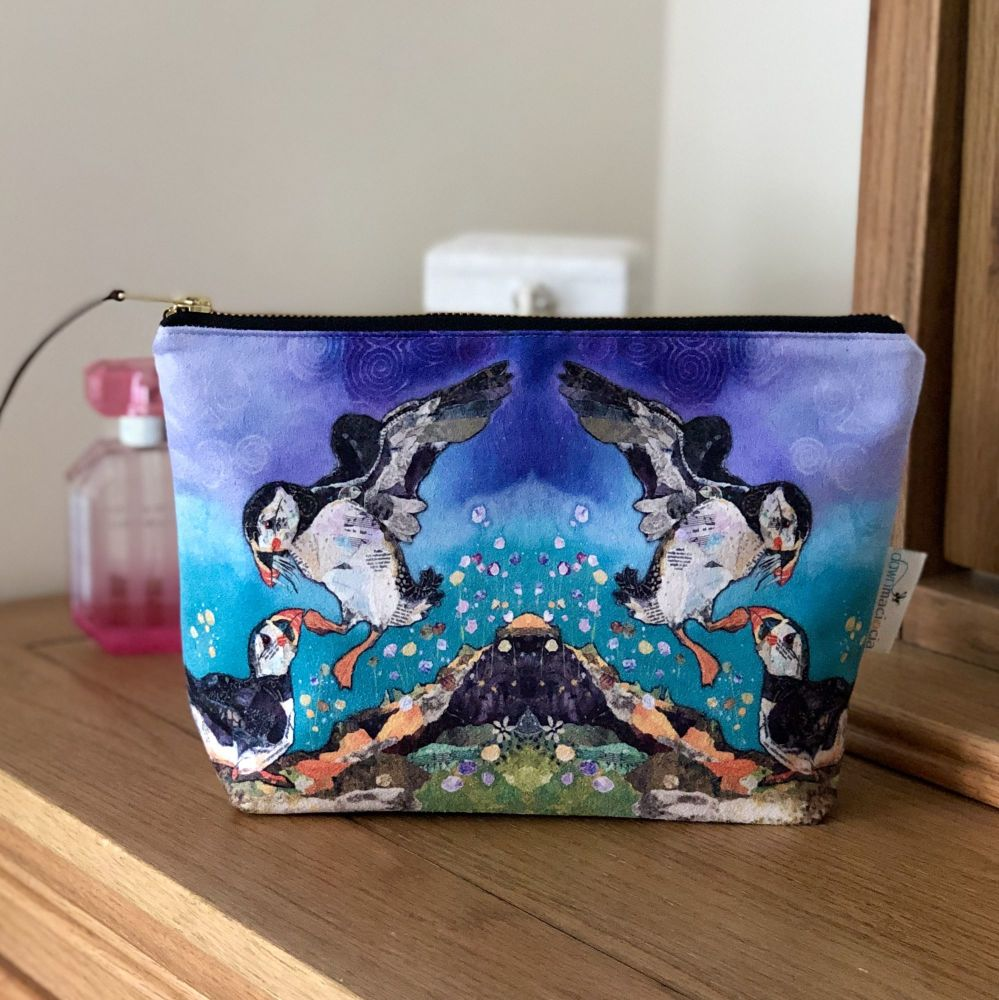 Two Puffin Friends Make-up Bag