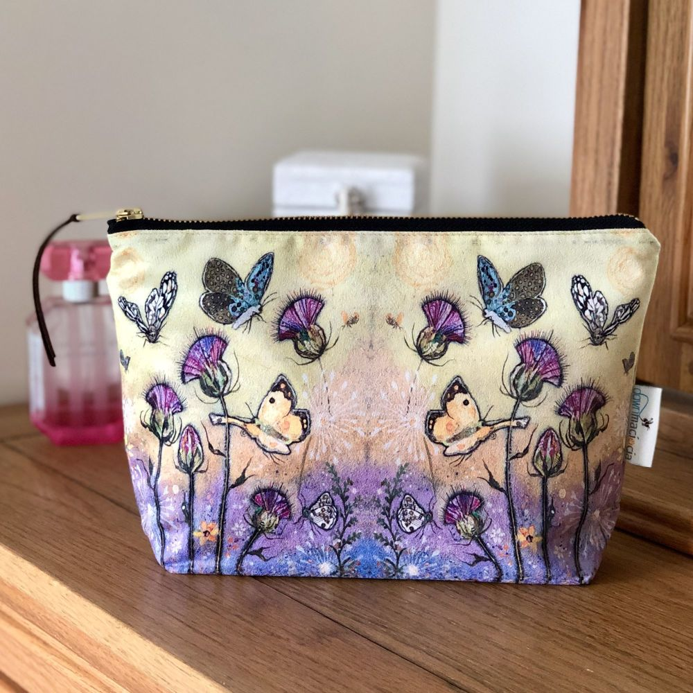 Butterfly & Thistle Make-up Cosmetic Bag