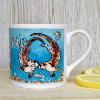 W'otter L'otter Bubbles Mug (B Grade SECONDS)