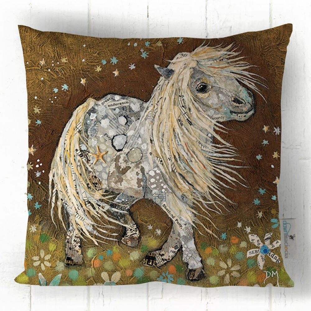 Shetland Pony Art Cushion