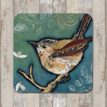 `Wren on Aqua Tablemat (SECONDS)