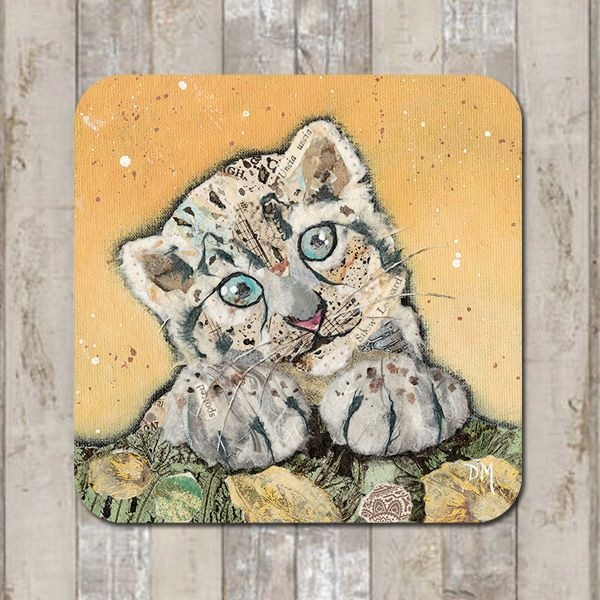Snow Leopard Cub Coaster Tablemat Placemat