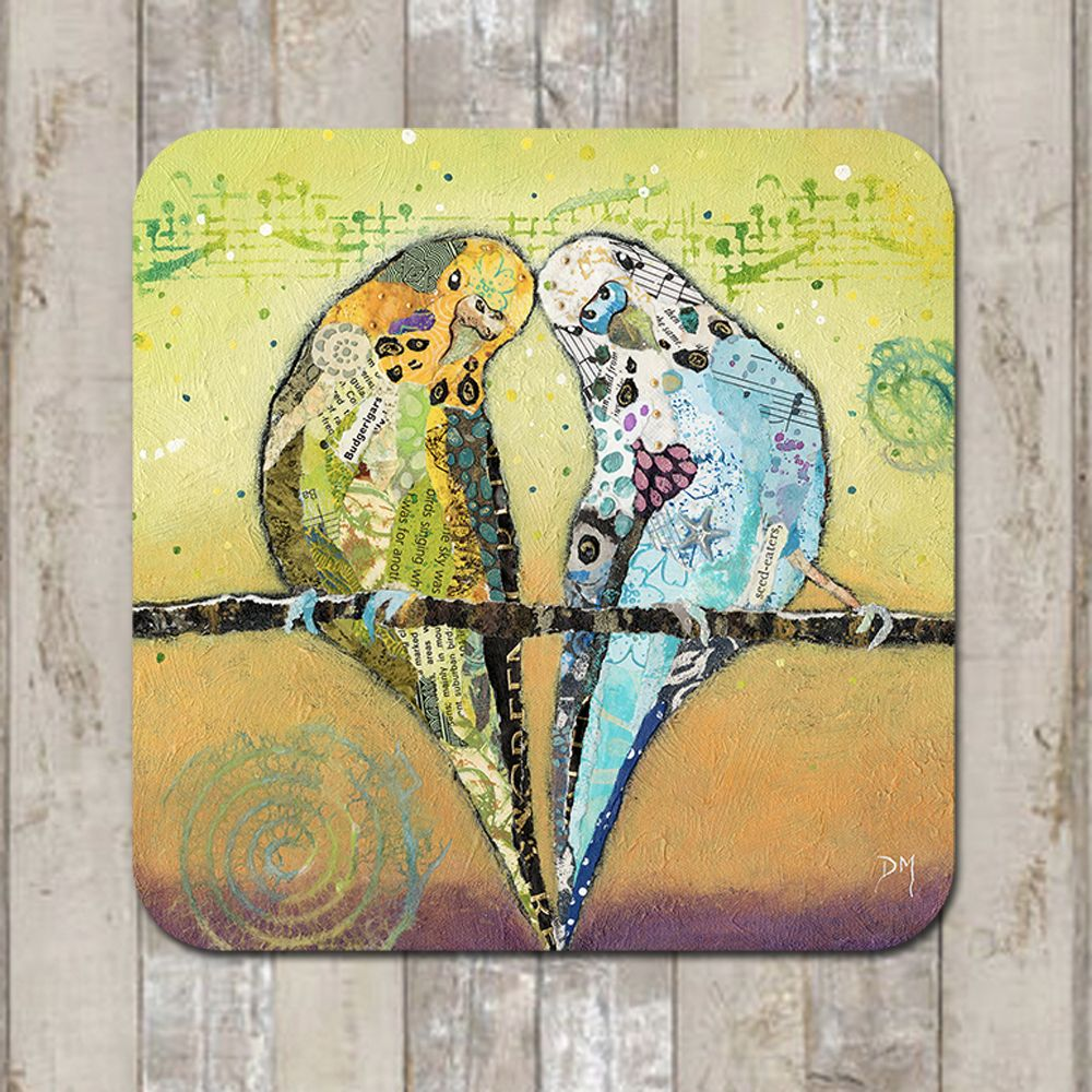 Budgie Frineds Coaster Placemat
