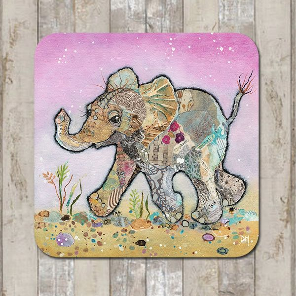 Baby Elephant Coaster Tablemat Placemat