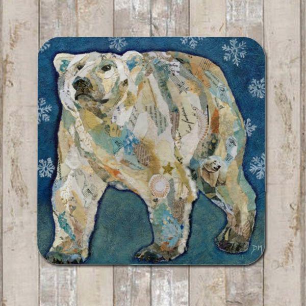 Polar Bear Coaster Tablemat Placemat