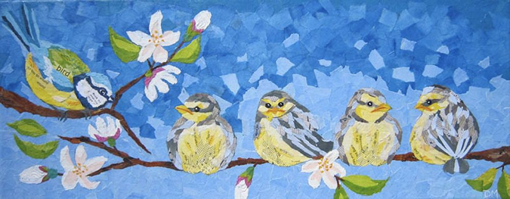 Blue-tit & Chicks Greetings Card