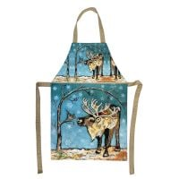 Reindeer & Bird Plush Apron