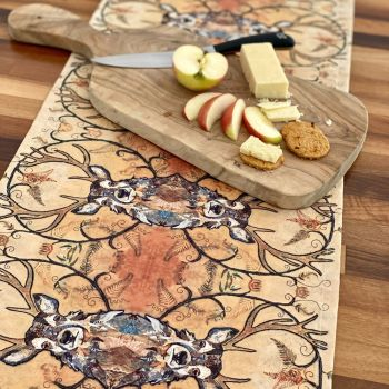 Golden Monarch Table Runner