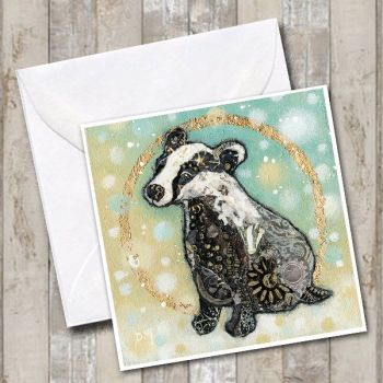 Winter Badger Card