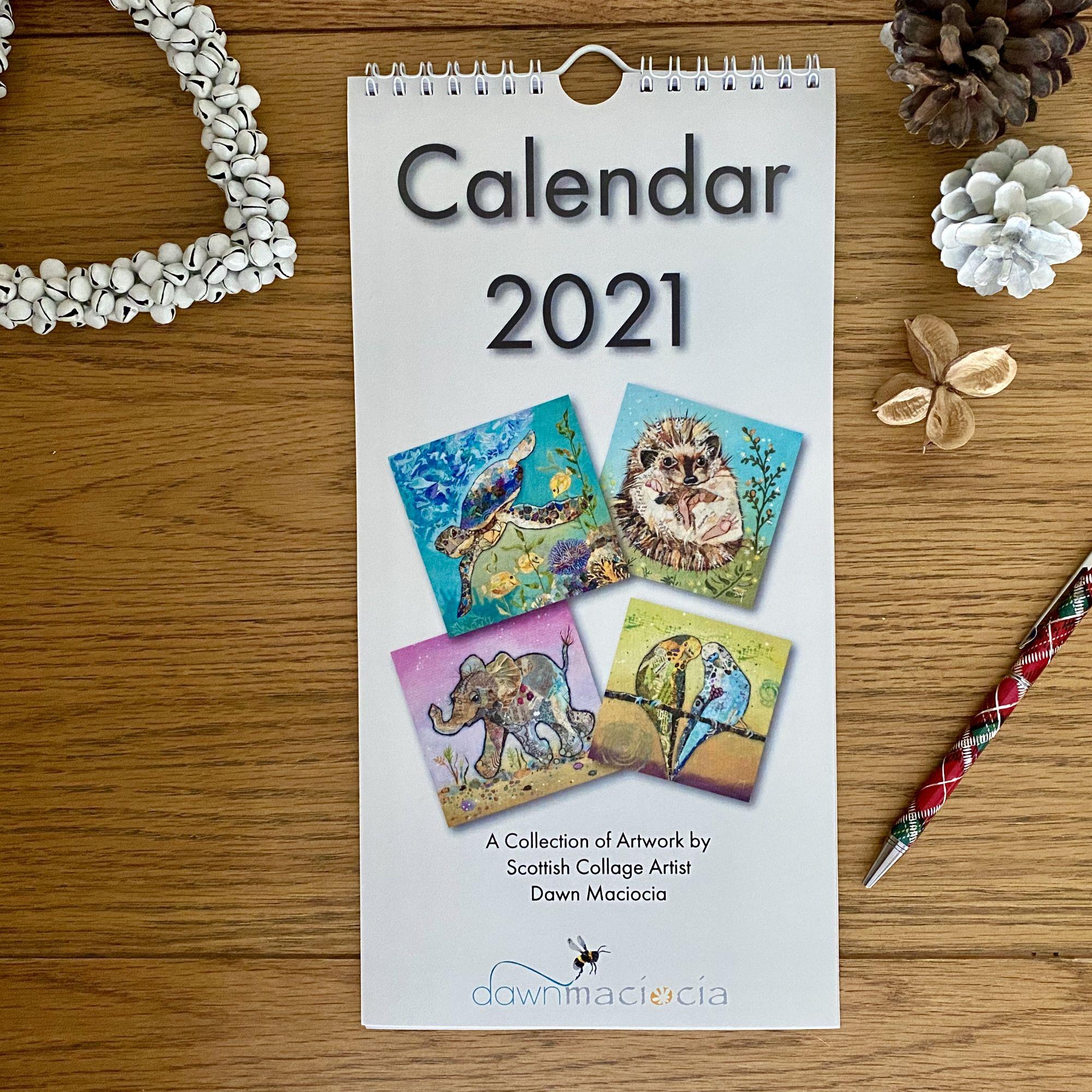 2021 Calendar by Dawn Maciocia Art