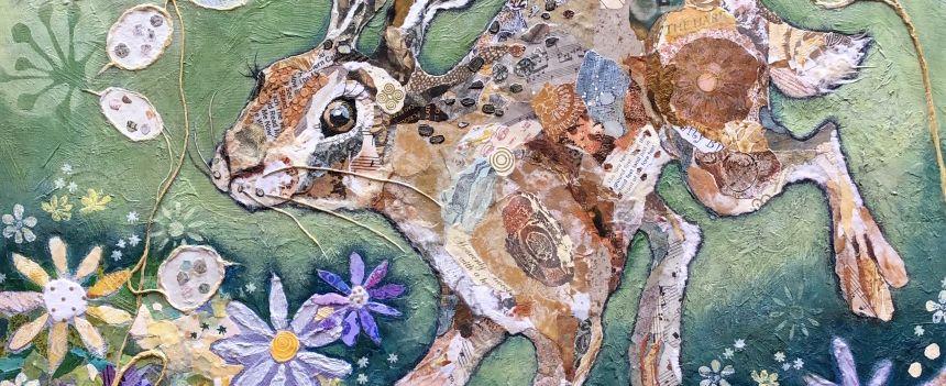 Hare Original Art Collage