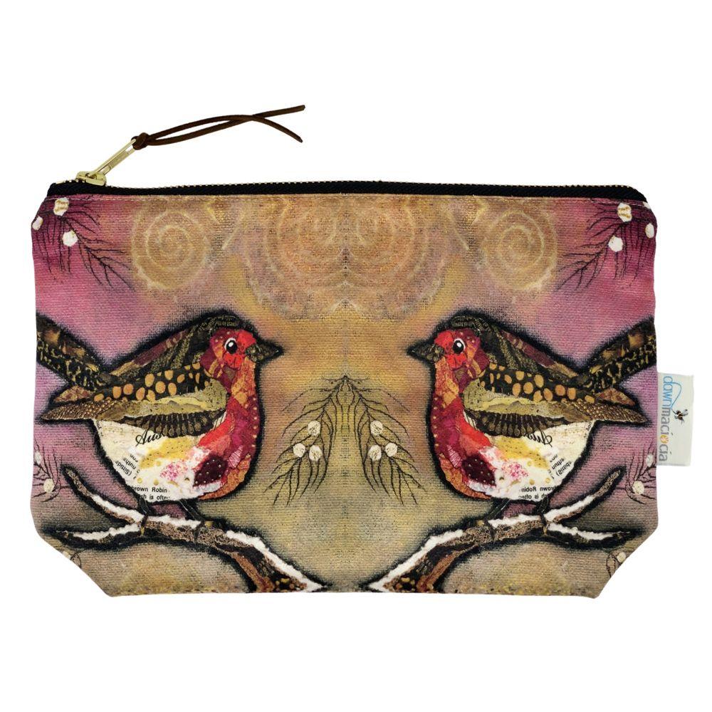 Robin on Blush Make-up Bag