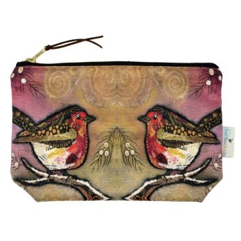Robin on Blush Make-up Bag