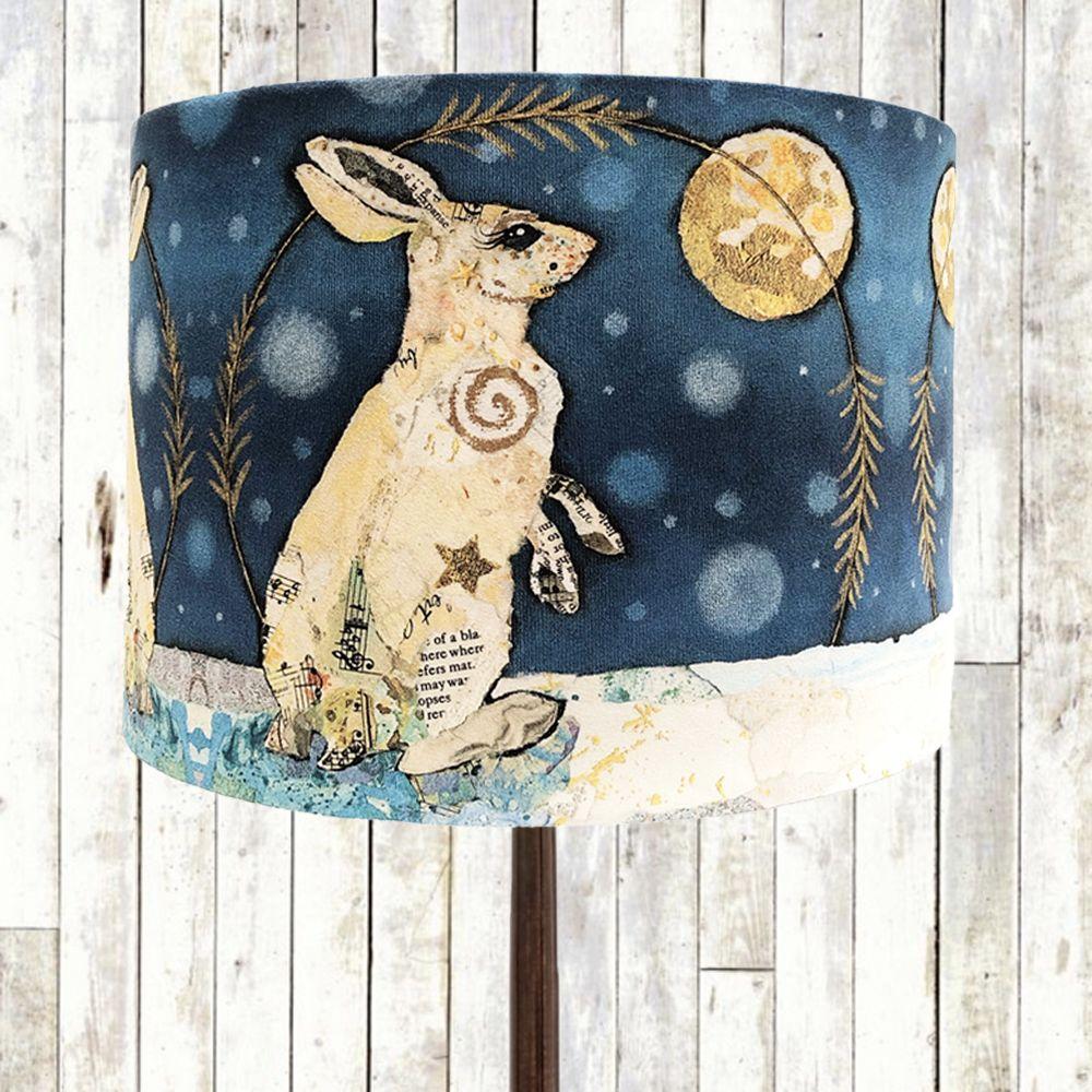Handmade Luna Hare Lampshade by Dawn Maciocia