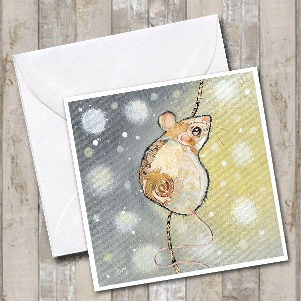 Winter Mouse Card by Dawn Maciocia