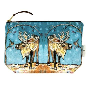 Reindeer & Bird Make-up Bag