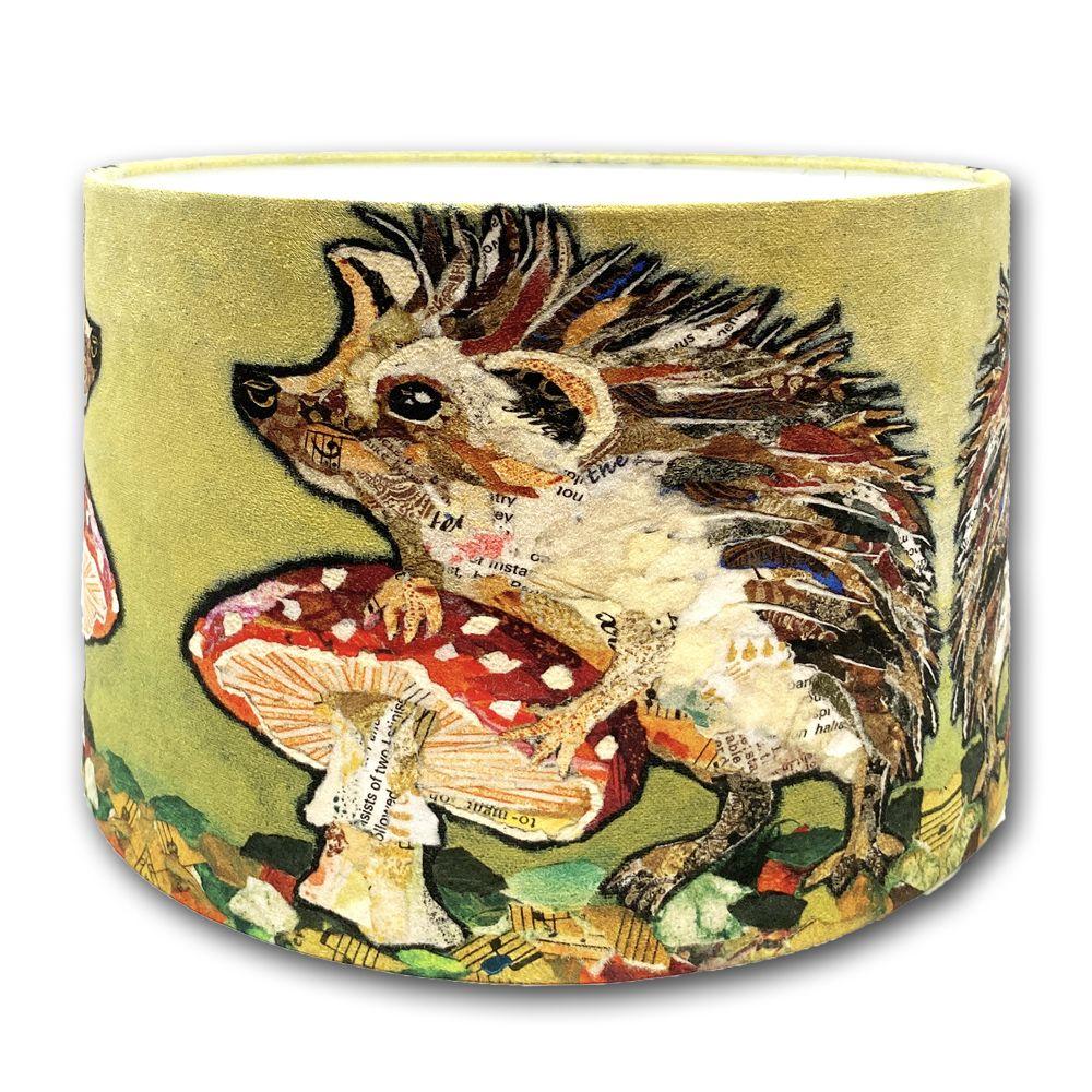 Hedgehog & Toadstool Lampshade - 30cms