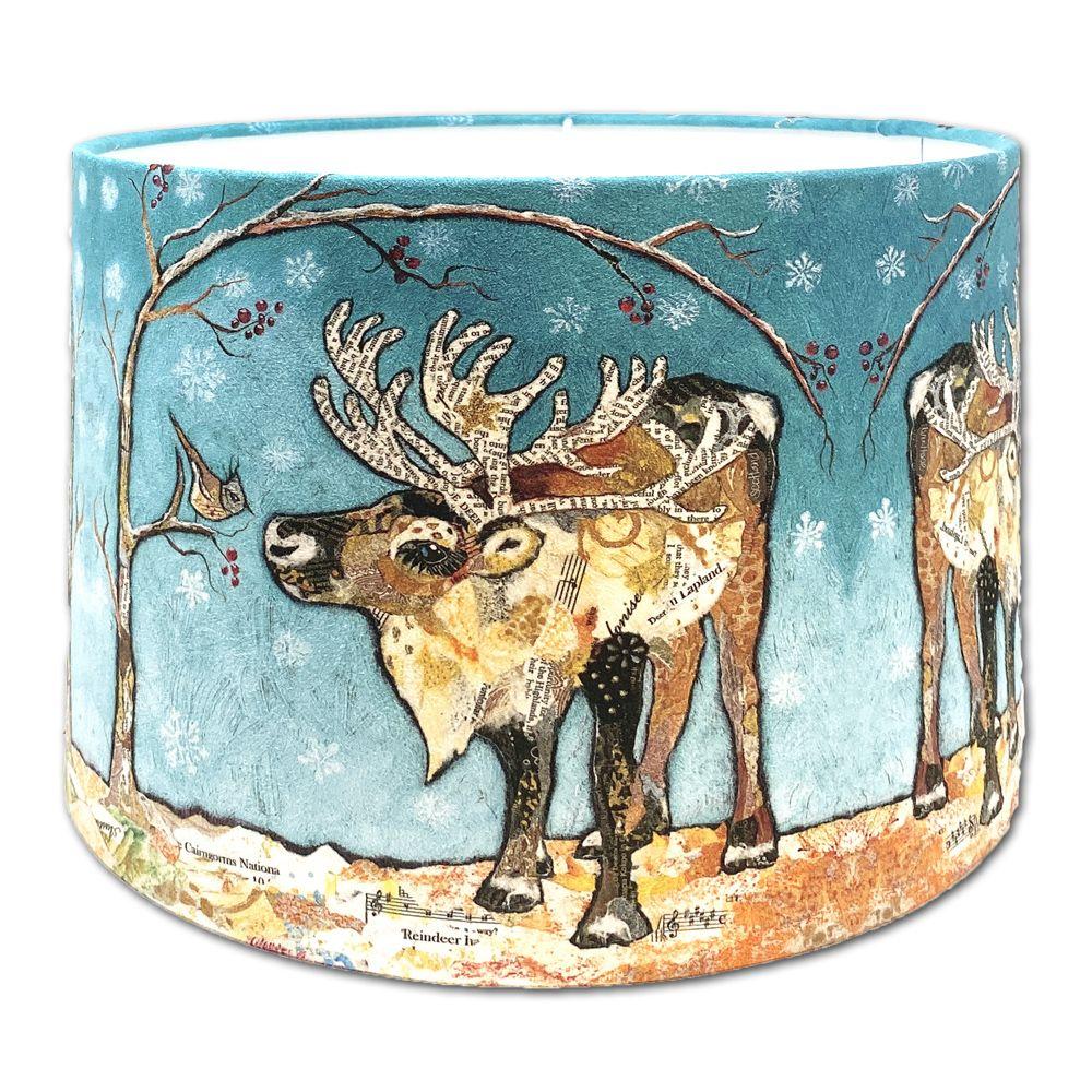 Reindeer & Bird -  Lampshade 30cms