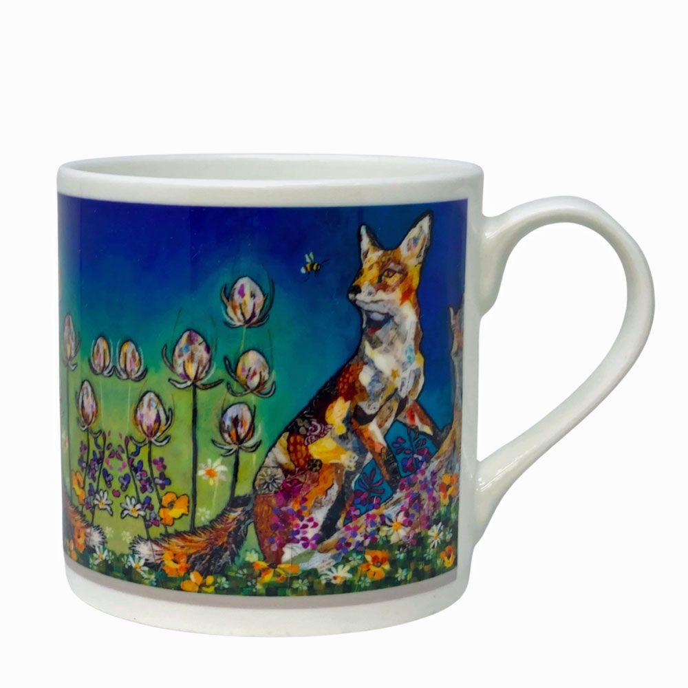 Fox and Bee in Woodland Mug - Fine Bone China