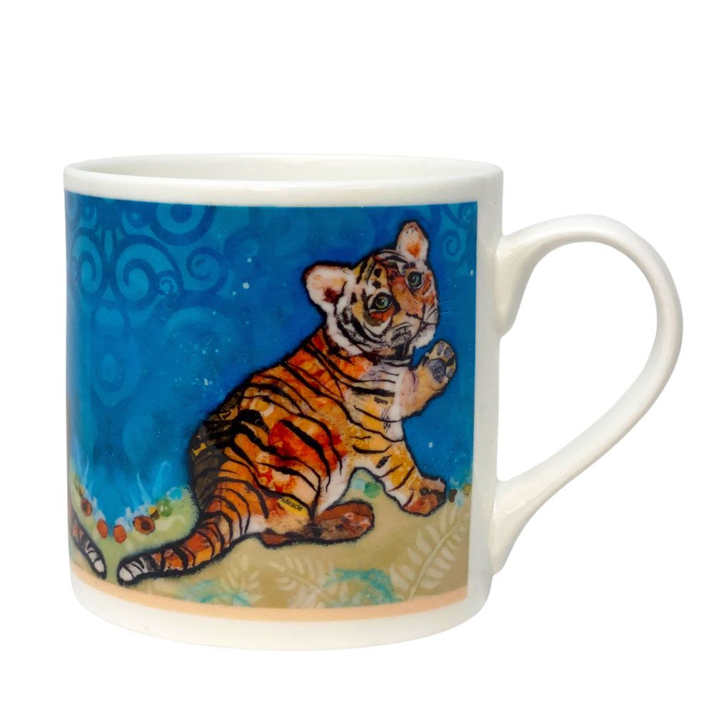 Tiger Cub Mug - Fine Bone China