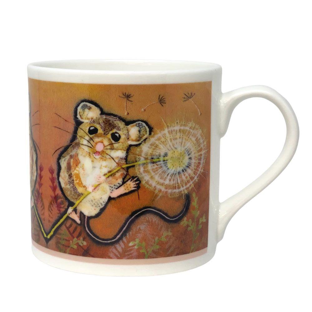 Mouse Climbing a Dandelion Mug - Fine Bone China