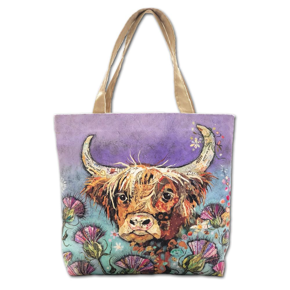 Highland Cow Luxury Tote Bag