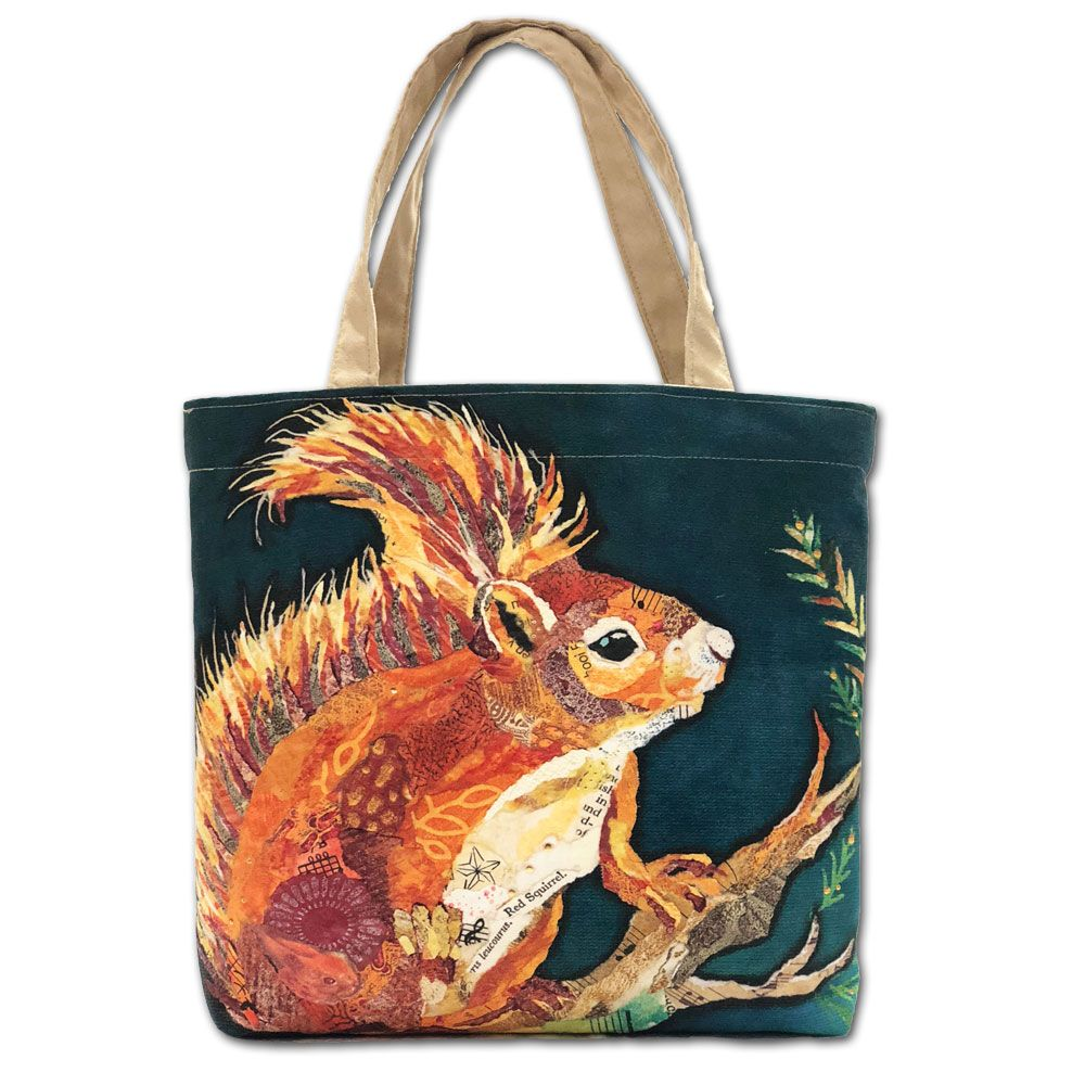Wee Red Squirrel Tote Shopper Bag