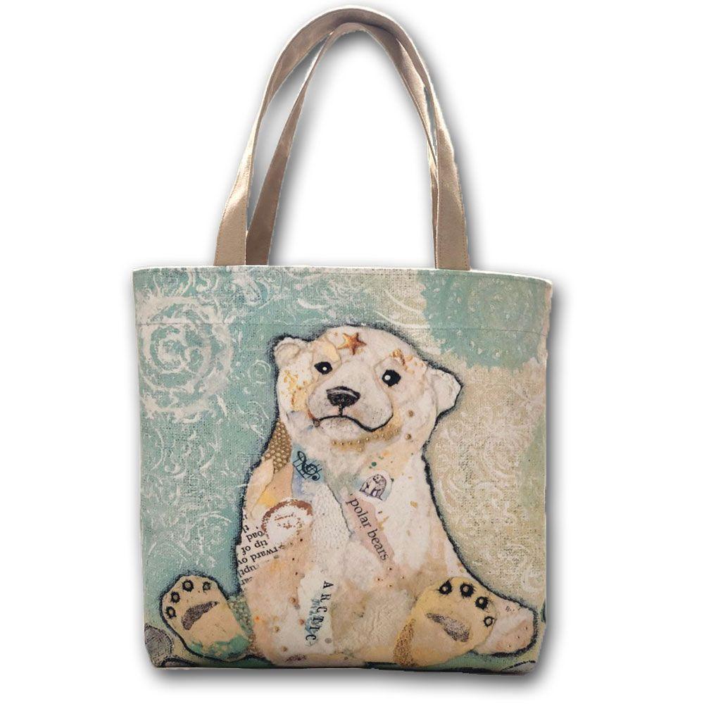 Polar Bear Cub Tote Shopper Bag