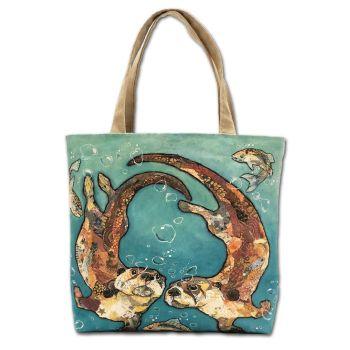 W'otter L'otter Bubbles Tote Bag