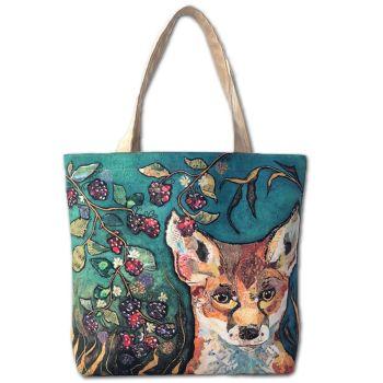 Fox in Brambles Tote Bag