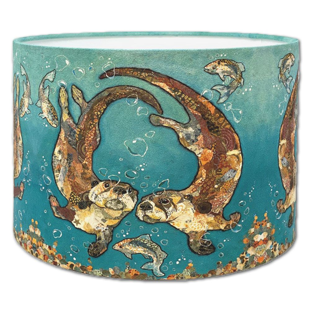 Swimming Otters - Lampshade