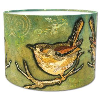 Wren on Sage - Bird Lampshade