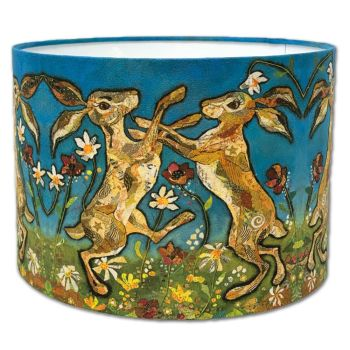 Hare Waltz - Boxing Hares Lampshade