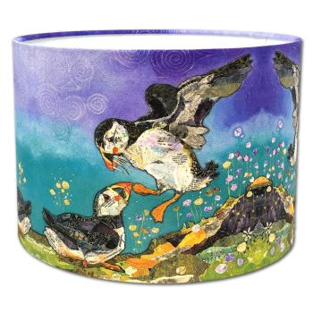 Love on the Rocks - Puffin Bird Lampshade