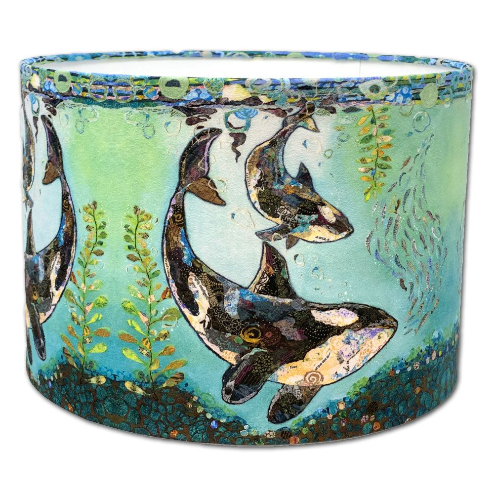 Dance with the Orca Killer Whale - Lampshade