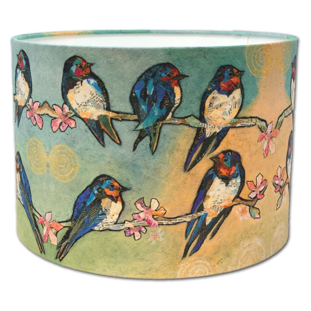 Swallows & Swirls - Drum Lampshade