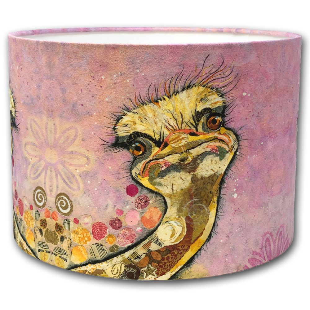 Chick Flick Ostrich - Drum Lampshade