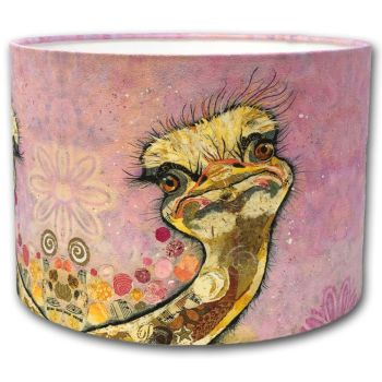 Chick Flick - Ostrich Drum Lampshade